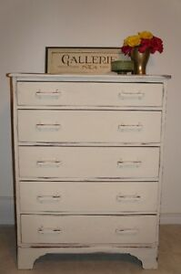 Solid wood, shabby chic, distressed dresser - FREE DELIVERY