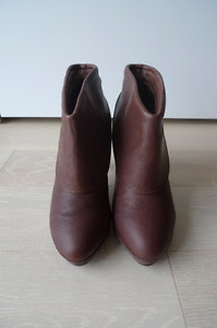 Genuine Leather Brown Ankle Boots