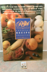 VINTAGE ROYAL WINTER FAIR COUNTRY RECIPE BOOK AND PIN