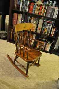 A vintage child's Bass River style rocking chair
