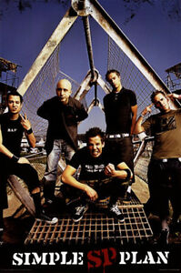 """MUSIC POSTER 45~Simple Plan Cage 2004 23x35"""""""