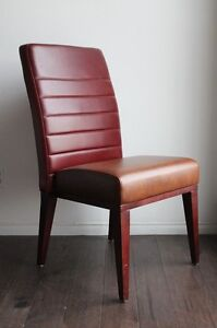 LEATHER HIGH BACK SIDE ACCENT DESK LOUNGE CHAIR