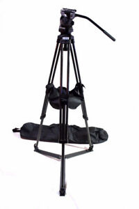 SACHTLER TRIPOD 75mm CARTONI FLUID HEAD MID-LEVEL SPREADER/BASKE