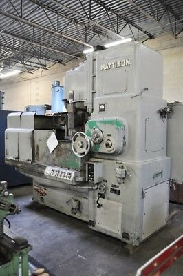 1962 Mattison 24 42 Electromagnetic Chuck 32 Rpm 50 Hp Rotary Surface Grinder