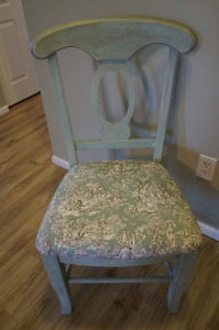 Shabby Chic French Country Duck Egg Blue Solid Wood Dining Chair