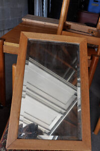 Antique wooden (oak) mirror $10 Cambridge Kitchener Area image 1