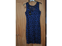 Quiz Blue Sparkle Lace Dress NEW with tags size 14 Work Christmas New Year Party?