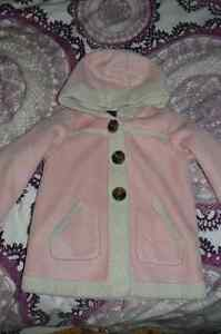 Old Navy pink faux sheep skin jacket, 4T