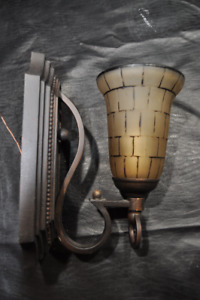 Two Wet Rated Bronze Wall Sconces