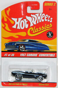 Hot Wheels Classics 1/64 '67 Camaro Convertible Diecast Car