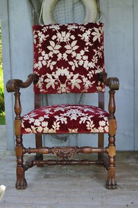 Carved English style chair