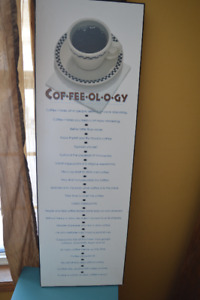 Large coffee wall hanging