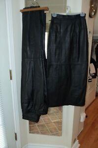 women black leather pant & Skirt size xs