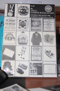 6 Beatles Liverpool Convention Auction Programs