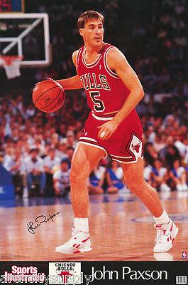 POSTER:NBA BASKETBALL : JOHN PAXSON - CHICAGO BULLS  -  FREE SHIP #7324   RP92 M