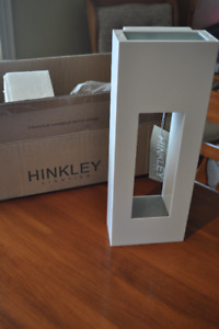 Two Modern White Exterior Lights (Hinkley Lighting)
