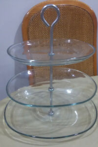 Glass fruit / bakery stand