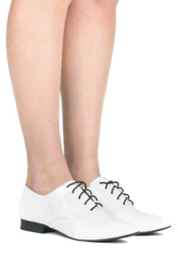 Jeffrey Campbell White Leather Pointed Shoe 7