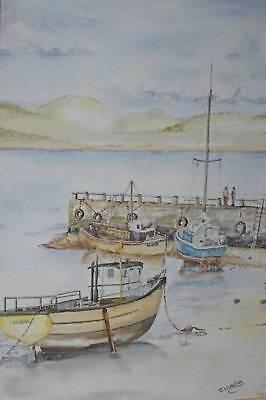 Sailing Yachts Pair Watercolour Paintings John D Wakeling  British School c2005