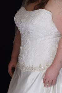 Plus Size Wedding Dress Worn only for photo shoot