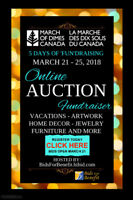 Online Fundraising Auction for March of Dimes Canada