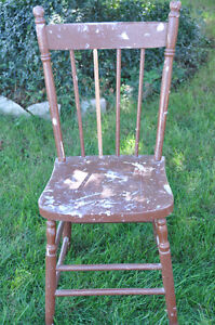 3 Wooden Painted Chairs- great for Chalk painting! Cambridge Kitchener Area image 4