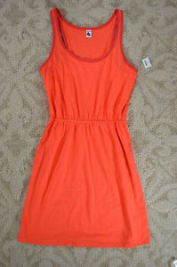 Old Navy women's coral orange jersey knit dress Small NWT London Ontario image 2