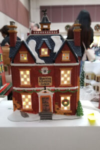 Hand painted, light up Christmas houses. Department 56, BNIB