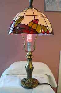 tiffany style stained colorfull  table lamp