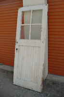 Wood Exterior Door Solid Used Project Glass Panes Old