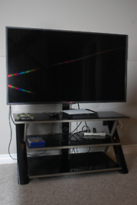 """TV Stand for TVs up to 70"""", with 3 Display Options for Flat Scre"""