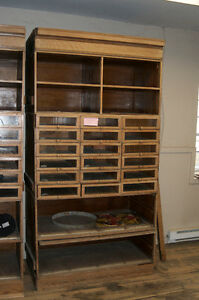 IMPRESSIVE, ANTIQUE DISPLAY UNITS