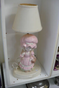 Pink Girl Table Lamp Light Electric Bedroom Decor IT WORKS Cute