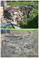 Dry stack/field stone walls