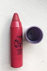 Hot Pink Travel Cosmetic bag with Tarte lipstick