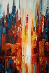 "36""x 24"" Original Oil Painting ""Fire and Water"""