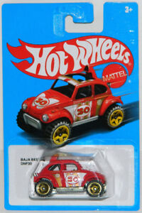 Hot Wheels 1/64 Baja Beetle DNF30 Diecast Car Red