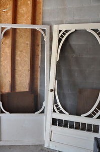 Wooden Screen Doors - White in great condition