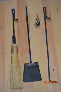 Fire Place Tool Set, Rod Iron