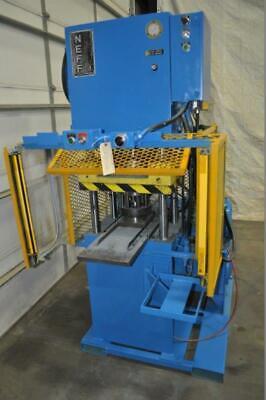 50 Ton Neff 4 Post Hydraulic Press 12 Stroke 15 Daylight 22.5 X 16.5 Bed 22.