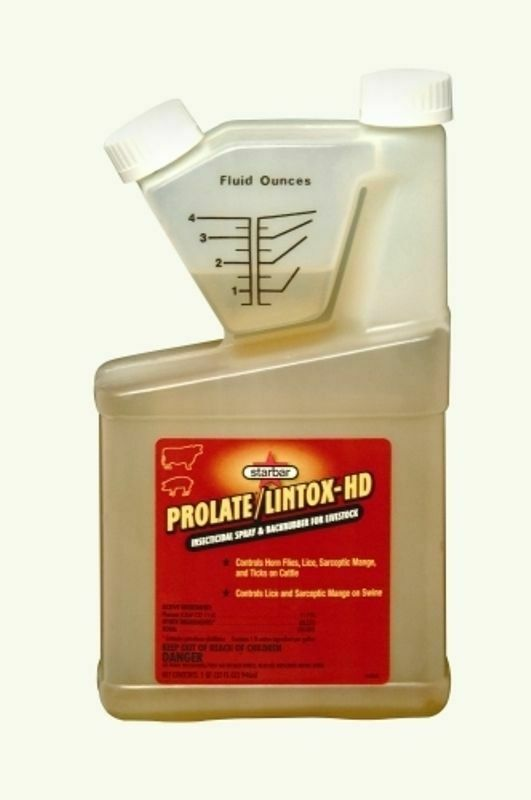 Prolate Lintox 32 oz Tick Mites Lice Dairy Cattle Swine