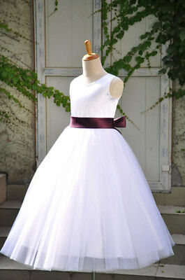 - G181 White Flower girl dress Discount Communion dresses