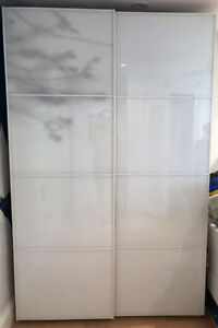 IKEA PAX - Tall w/sliding glass doors and drawers
