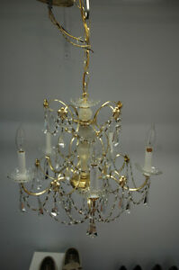 Vintage Schonbek 5 light chandelier.