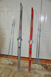 Cross Country Skis & Poles (2 Sets)