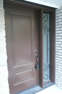 BRAND NEW Exterior Door, single side light and hardware