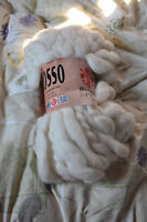 White new worsted wool