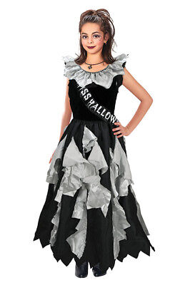 Childrens Zombie Prom Queen Halloween Fancy Dress Costume Girls Outfit 11-13 Yrs ()