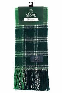 New-Scottish-100-Wool-Tartan-Clan-Scarf-MacDonald-Lord-Of-The-Isles