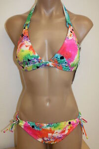 NWT-Roxy-Swimsuit-Bikini-2pc-Set-MUT-608723-Halter